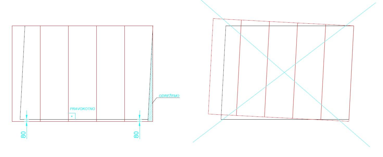 Pravokotnost montaže plošč